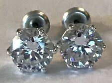 ❤️AUTHENTIC ORIGAMI OWL ~ CLASSIC CRYSTAL STUD EARRINGS 🦉RETIRED VERSION  NEW❤️