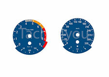 BMW Tachoscheiben für 3er E90 & 5er E60 Benziner 330 kmh km/h M3 M5 5001 Blau