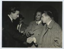 Italia, Calcio, Buongiorno e Puskas Vintage silver print Tirage argentique