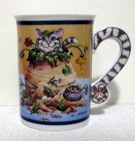 Danbury Mint comical porcelain CAT COFFEE MUG CUP Gary Patterson LITTLE RASCAL