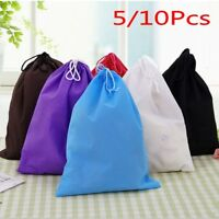 5/10x Home Non-woven Drawstring Bag Travel Wash Pouch Shoe Clothes Storage Bag