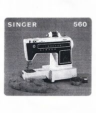 Singer 560 Diana Sewng Machine Instruction Owners Users Guide Manual Book