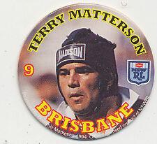 1994 Coca Cola Queensland Rugby League Terry Matterson # 9 Brisbane Pog