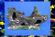 Aquarium  Fish Tank Ornament Shipwreck 30x10.5x16.5cm  Aquarium Decorations