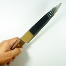 "Thai Chef Knife Cook Ware Knives KIWI Wood Handle Kitchen Blade 7.6"" Stainless"