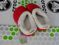 CROCS MAMMOTH BLITZEN POLAR KIDS BAYA CLOG SHOE~Red  White~Junior 2 Women 4~NWT