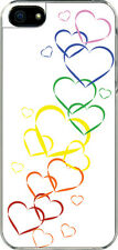 iPhone 5 Valentine's Graduating Rainbow Heart Design Sticker on Hard Case Cover