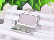 HJ068 Laptop Computers Model Keyring Polished Chrome Keychain Classic 3D Gift