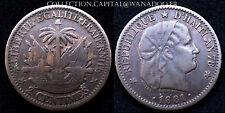 2cts Haïti 1881 Colonie Française Bronze