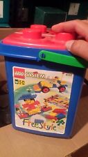 LEGO #4152 System Freestyle Bucket Tub - Used, incomplete set