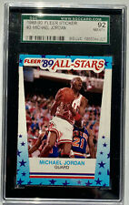 MICHAEL JORDAN 1989-90 Fleer All-Star Sticker #3 - Graded SGC 92 NM MINT+ Bulls