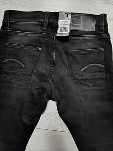 G-STAR RAW 3301 DENIM HERREN JEANS HOSE W29 L32 mod. DEFEND SUPER SLIM BLACK NEU