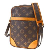 Auth LOUIS VUITTON Danube Shoulder Bag Monogram Leather Brown M45266 88MD631
