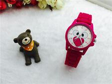 NEW Women's Fashion Silicone Simulation Wrist Watches Quartz   Bear Watch Red