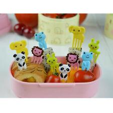 10pcs Mini Farm Fruit fork Children Cartoon Animal Sign Toothpick Bento lunch