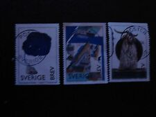 SUEDE - timbre yvert et tellier n° 2014 2015 2016 obl (A29) stamp sweden (F)