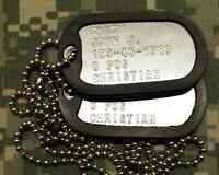 US ARMY AUTHENTIC PERSONALIZED DOG TAGS. SILENCER. MUST SEE!