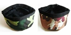 2 New  Pet Bowl Portable Collapsible Travel Dogs Cats Pets Camouflage USA SELLER