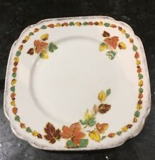 """ROYAL ALBERT - """"RUSSET"""" Pattern with Autumn Leaves - Crown China, Side Plate"""