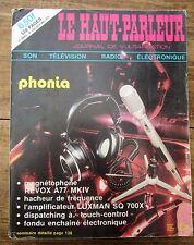 LE HAUT PARLEUR 520 PAGES 1975 RADIO TELEVISION