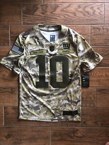 NWT New York Giants Salute To Service Jersey Eli Manning Size Small