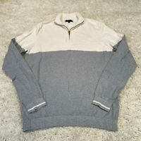 NEW LOOK Mens Knitted Jumper Large Grey Cotton Pullover