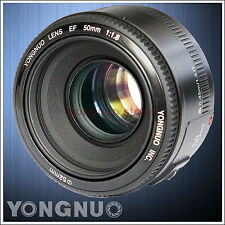 Yongnuo EF 50mm F/1.8 AF/MF Standard Prime Lens for Canon EOS Rebel Camera