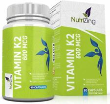 Vitamine K2 MK7 a fort dosage certifiee - 600 mcg Menaquinone - 90 Gelules