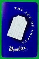 Playing Cards Single Card Old WEMBLEX SHIRTS Fashion Clothing Advertising Art 2