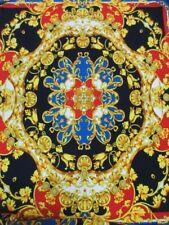 "2 yards & 26"" stretch spandex lycra ity fabric beautiful royal panels print"