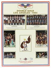 "1984 USA Olympic Basketball 22""x30"" Double Gold Poster Michael Jordan Bob Knight"