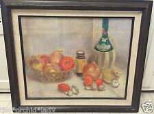 Vintage STILL LIFE Drawing Painting OPAL HASBROOKE LAFFERTY (1903-1995) LISTED