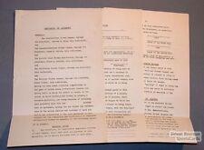 1950s Five Leagues Hockey Memorandum Agreement NHL ++