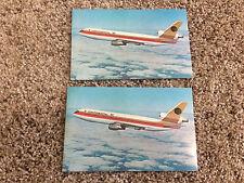 (2) Vintage Continental DC-10 Postcards