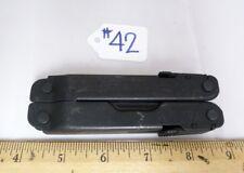LEATHERMAN SUPER TOOL 300 BLACK OXIDE FOLDING MULTI TOOL KNIFE USED -QK#42
