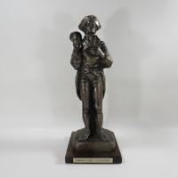 """Relic Art Ltd Towne Crier Circa 1760 American Revolution Statue 15"""" Figurine"""