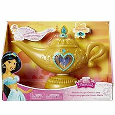 Disney's Aladdin Magic Genie Lamp 12 phrases & images from Movie Also Tiara Ring