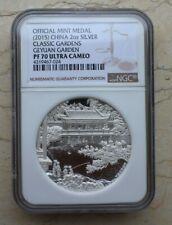 NGC PF70 UC China 2015 2oz Silver Medal - Geyuan Garden