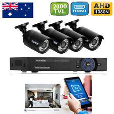 FLOUREON 8CH HDMI DVR 4 1080P HD IP Network Home CCTV Security Camera System Set