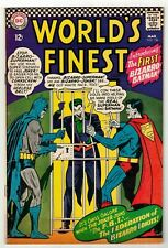 WORLD'S FINEST #156 (FN) 1st Bizarro Batman! Joker Appearance! 1966 DC