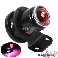 Lucas-Style LED Tail Light For Harley Cafe Racer Bobber Chopper Custom Black New