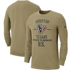 Nike Mens Houston Texans NFL Salute To Service Long Sleeve T-Shirt 3XL XXXL NEW
