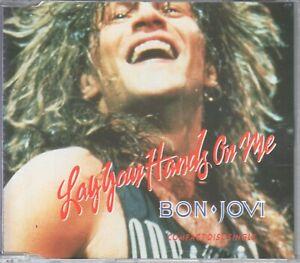 Bon Jovi  CD-SINGLE  LAY YOUR HANDS ON ME   © 1988  JOVCD6