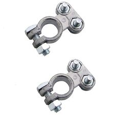 2 Heavy Duty Car Battery Terminals Clamps Screw Connection Positive & Negative