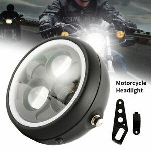 """Moto Faro Anteriore Lampada 6.5 """" Proiettore Per Angel Eye a LED con luce DRL"""