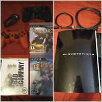 Tested Works:Sony Ps3 80gb, games & controller bundle-lot-great condition