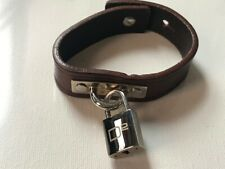 Dsquared padlock Bracelet Brown Leather from mid 2000