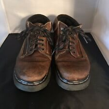 Dr Doc Martens 8A48 Brown Leather Ankle Lace Boots Shoes Women US 8 Made In Eng