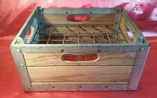 Vintage Stackable Wood Metal Storage Crate 15x12x7 No Advertising