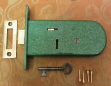 Old Antique Vintage 1920's Horizontal Mortice Lock 1 lever and 1 Key Made 1927